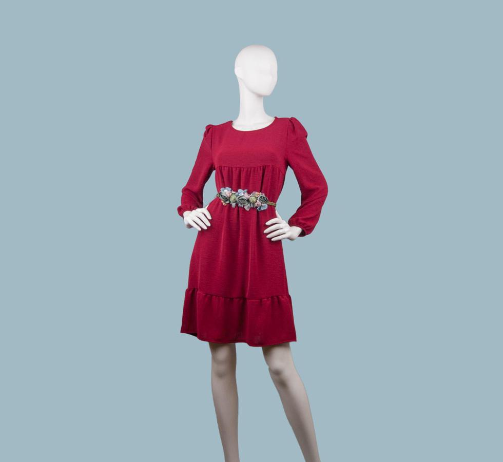 Платье бордовое 25854910