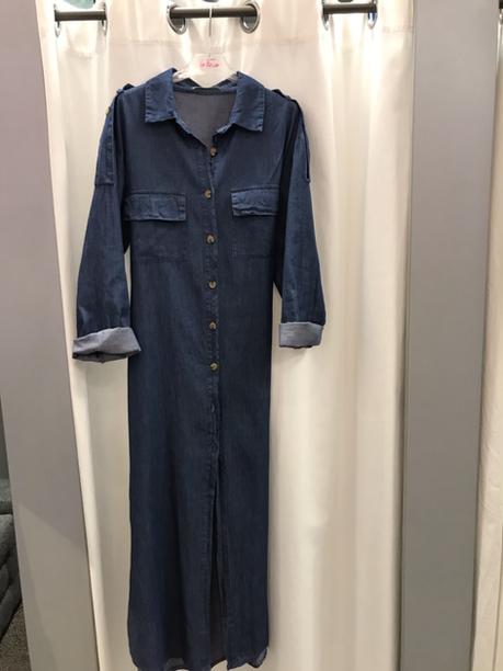 Платье халат джинсовое