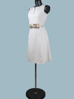 Нарядное платье светло-серое 9664