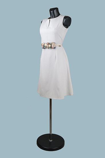 Нарядное платье светло-серое