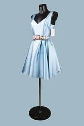 Платье нарядное   голубое 1460