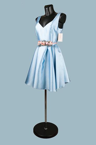 Нарядное платье голубое с пышной юбкой. Для свадьбы, выпускного. Польша. Размер:42-46