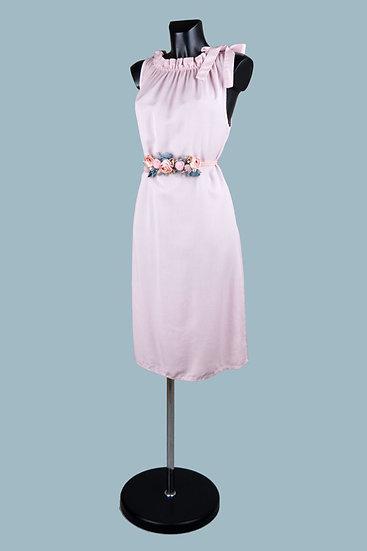 Летнее платье миди розовое. Италия. 100% лиоцелл. Размер: 42-48