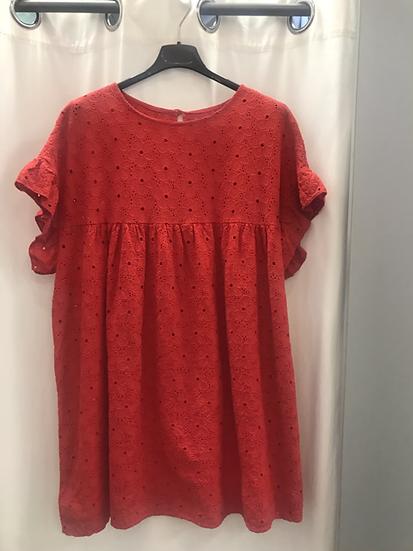 Платье -туника красное 19040410