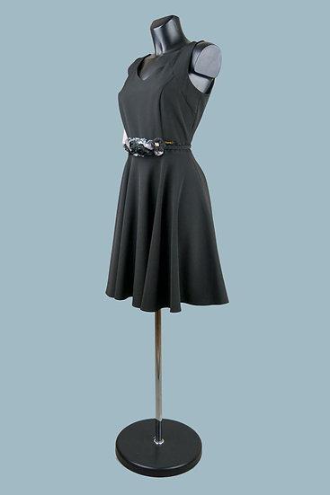 Платье с юбкой солнце черное 1222