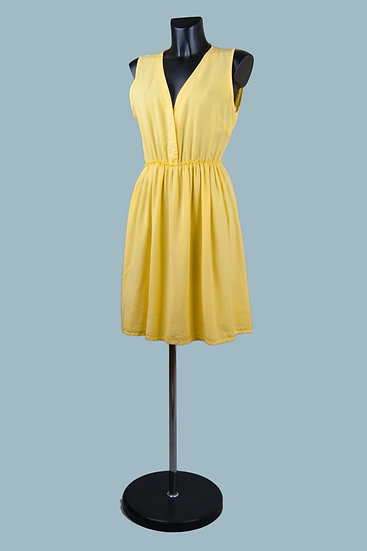 Летнее желтоеплатье. Италия. Лиоцелл. Размер: 42-46