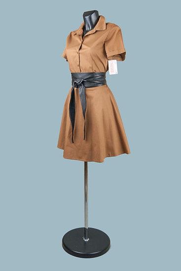 Летнее платье сафари бежевое.Хлопок. Италия.Размер: 42-46