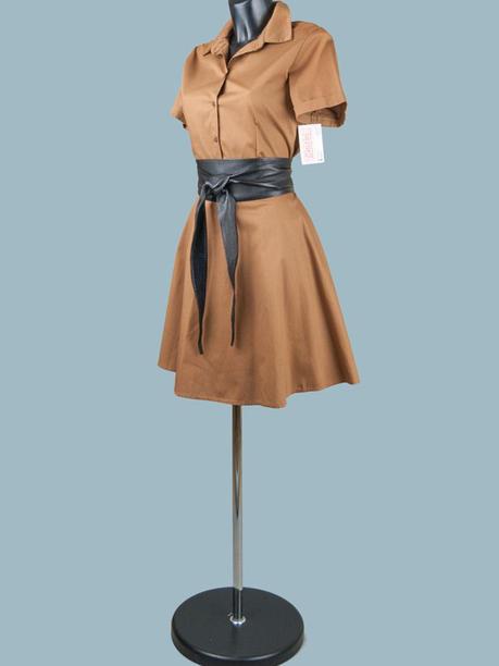 Платье летнее сафари  короткое бежевое