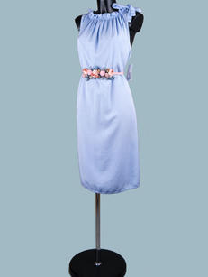 Платье  миди голубое 1883