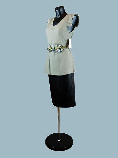 Летняя блузка без рукавов с крылышками хаки