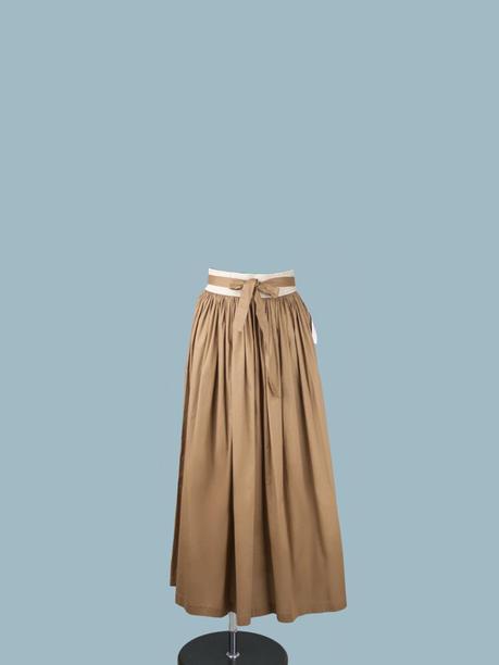 Юбка коричневая длинная с поясом