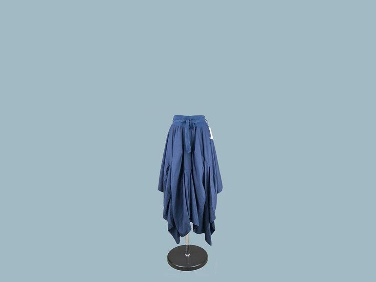 Юбка ассиметричная  синяя  1946
