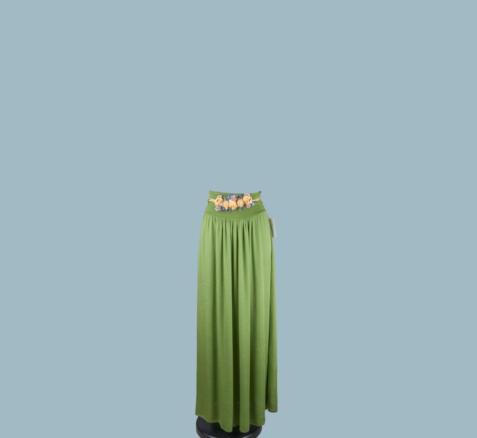Юбка длинная зелёная