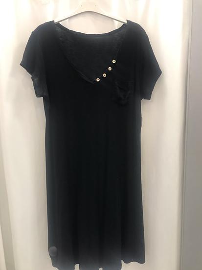 Платье трикотажное чёрное  18920210