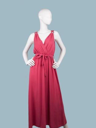 Длинное платье в греческом стиле красное