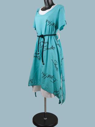 Платье летнее бохо голубое 2313