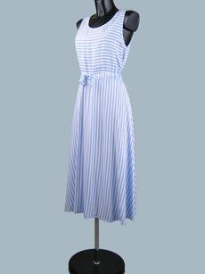 Платье летнее  в  голубую полоску 235