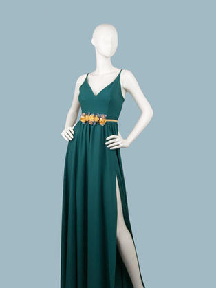 Вечернее платье в пол зеленое 1758