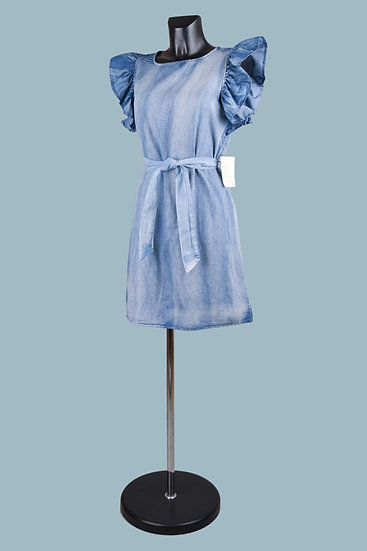 Короткое платье светло- джинсового цвета. 100% лиоцелл. Италия. Размер: 42-48