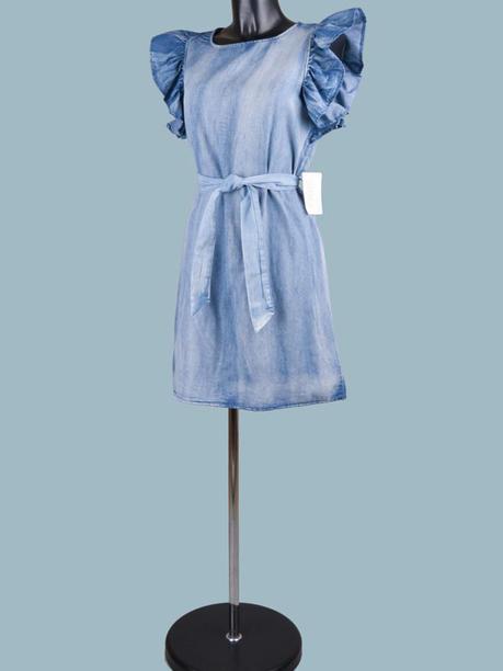 Платье светло-джинсовое мини 2002