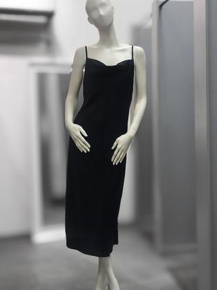 Платье- комбинация черное