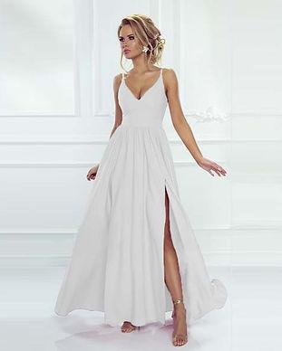 Вечернее платье в пол на свадьбу белое