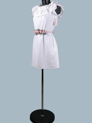 Белое короткое платье 23280110
