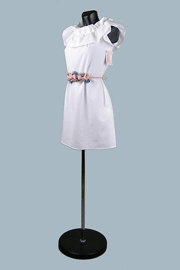 Нарядное белое платье мини. С карманами. Польша. Размер: 42-44