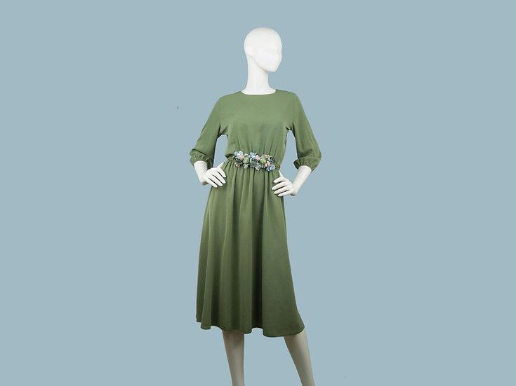Платье хаки 257542