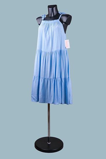 Свободный сарафан голубой. Италия. Лиоцелл с вискозой. Размер: 42-48.