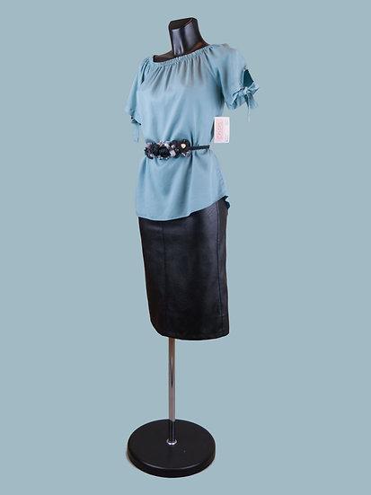 Летняя блузка с коротким рукавом мятная