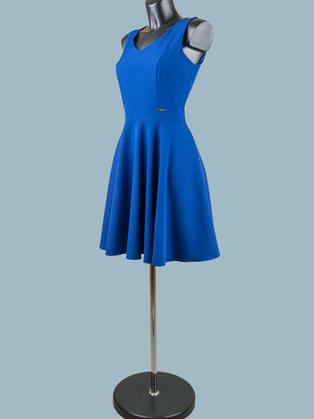 Платье с юбкой солнце синее 1222