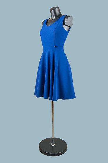 Платье с юбкой солнце синее