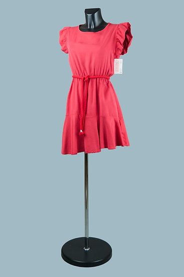 Летнее платье мини красное. Размер: 42-44. Италия. 100% лиоцелл