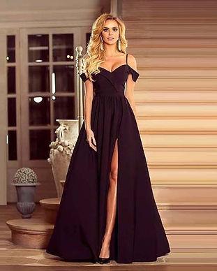 Шикарное вечернее платье в пол черное