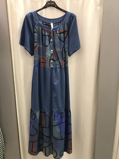 Платье свободное синее 22683010