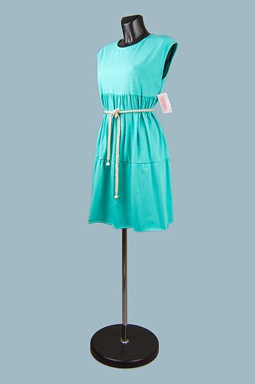 Трикотажное платье морская волна.Италия. Размер: 44-50