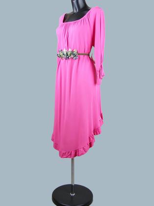 Платье с ассиметричным низом фуксия  23053510