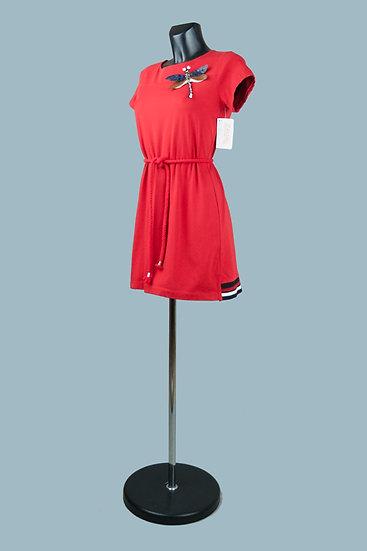 Трикотажное платье мини красное.Италия. Размер: 40-46