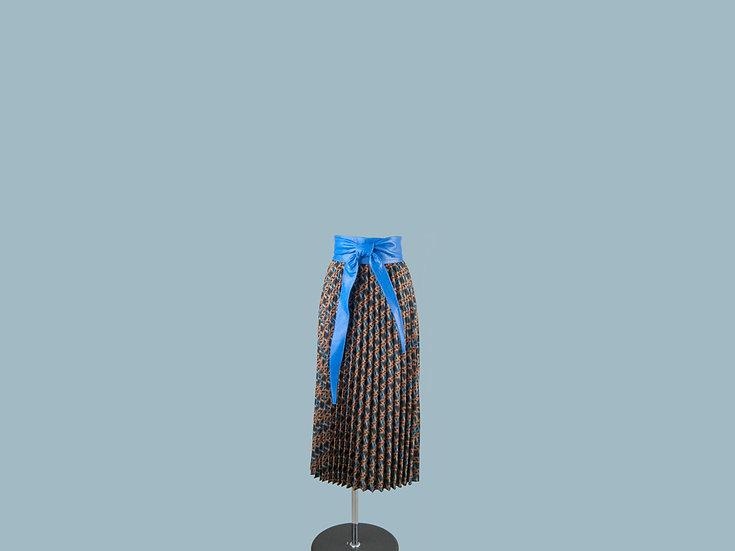 Юбка плиссированная  с рисунком 23990010