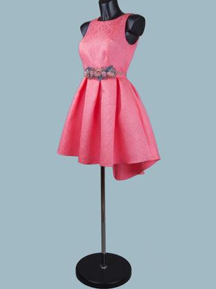 Нарядное платье брусничное