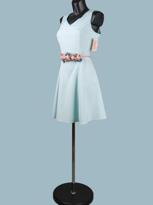 Нарядное платье голубое