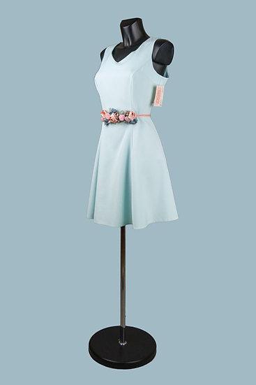 Короткое нарядное платье голубое. Польша. Размер: 42-48