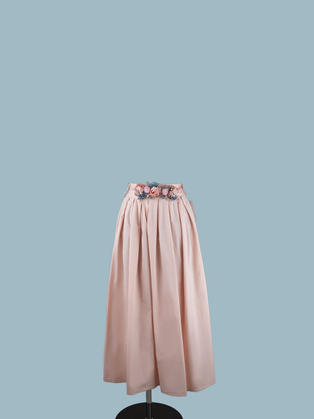 Юбка розовая в складку
