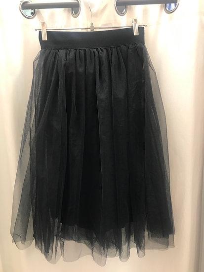 Юбка юбка сетка черная