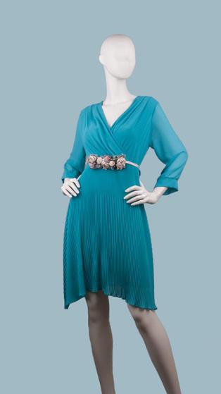 Платье нарядное бирюзовое 25392910