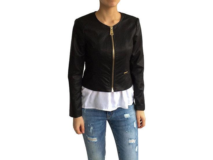 Куртка из экокожи на молии 102502