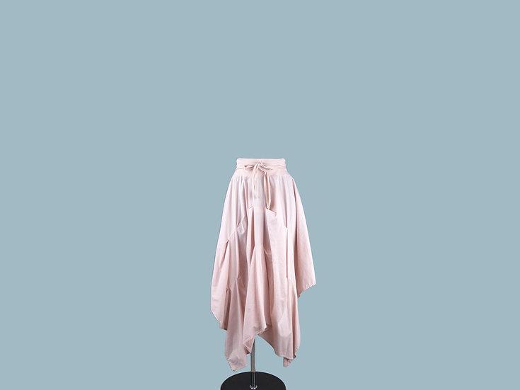 Юбка ассиметричная розовая