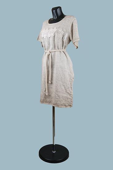 Светлое льняное пляжное платье. Размер:48-50. Италия