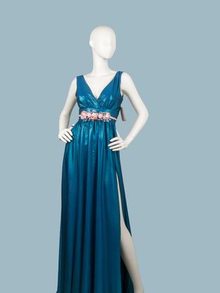 Вечернее платье в пол голубое 1773